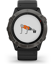 fēnix 6X Pro Solar with animated workouts screen