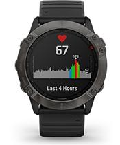 fēnix 6X Pro Solar with heart rate screen