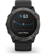 fēnix 6X Pro Solar with body battery energy monitor screen