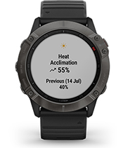 fēnix 6X Pro Solar with performance metrics screen