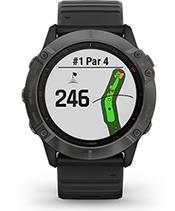fēnix 6X Pro Solar with golf courses screen