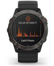 fēnix 6X Pro Solar with solar battery screen